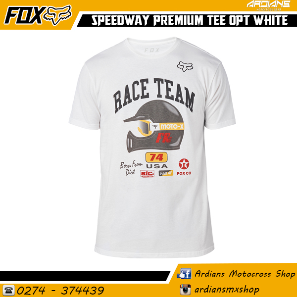 SPEEDWAY PREMIUM TEE OPTIC- WHITE