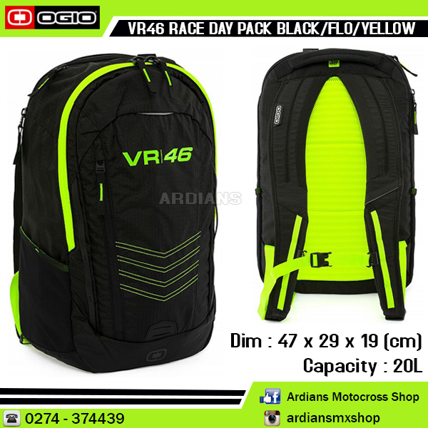 VR46 RACEDAY PK- BLK YELL FLUO