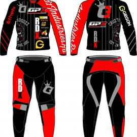 Sample Custom Desain Gear Set Chris Warcwick